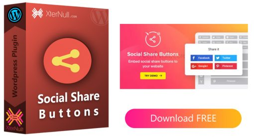 Social Share Buttons Plugin v1.6.0 [Nulled]
